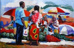 Patrick Kinuthia's painting  Si Hoja.