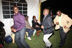 And the AG, flanked KPA chair Lawrence Njagi (Left) and Musyoki Muli of Longhorn did a small jig...