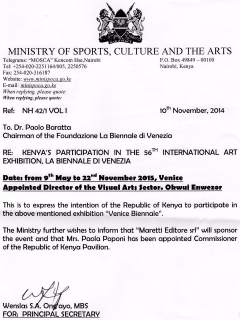 Venice biennale did culture ministry take kenyan artists for a ride venice biennale did culture ministry take kenyan artists for a ride maisha yetu stopboris Choice Image